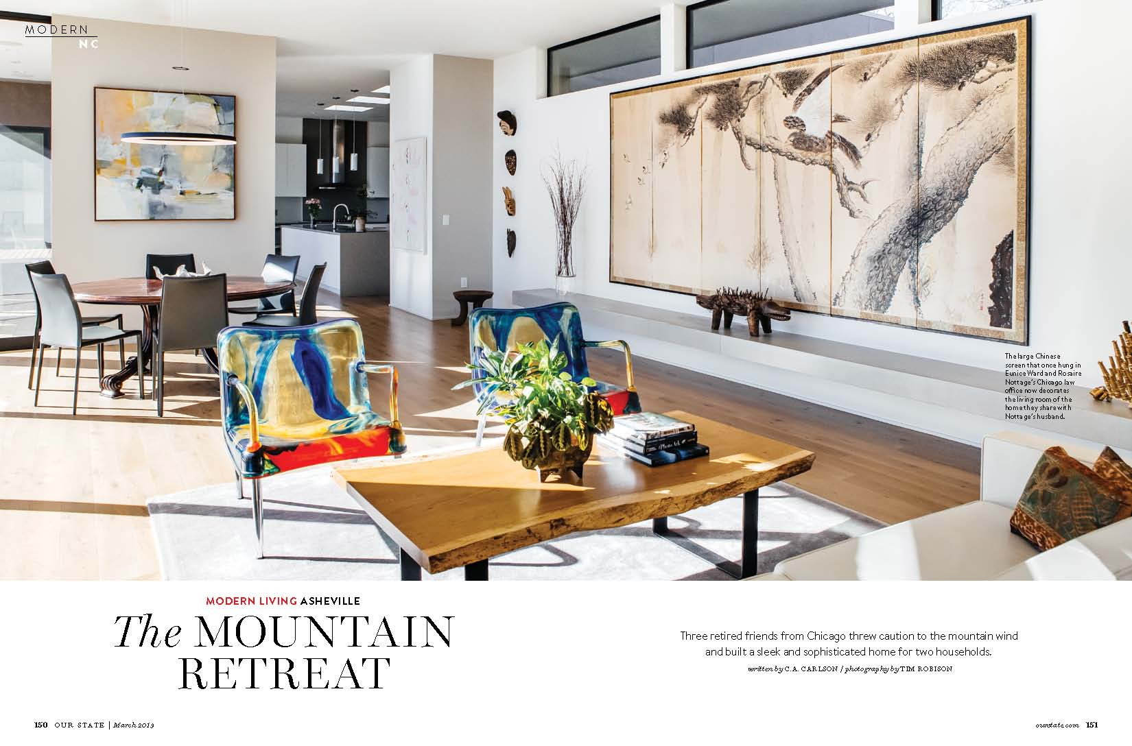 . Modern Living   The Mountain Retreat   Our State Magazine   Wilson